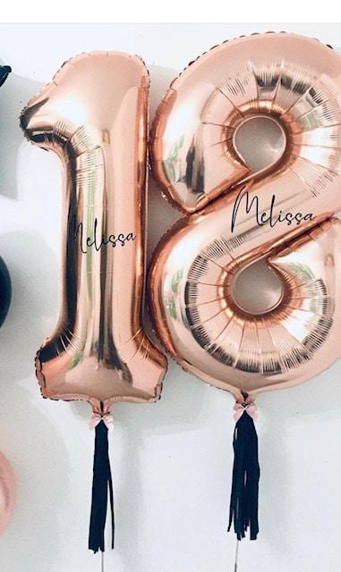 jumbo numbers helium balloons